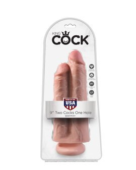 "Dildo ""Two Cocks One Hole Nr. 9"" - King COCK"