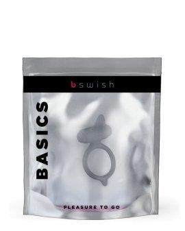 """Pilkas vibruojantis penio žiedas """"Bcharmed Basics"""" - B Swish"""