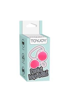 """Rožiniai kamuoliukai """"Funky Love Balls"""" - ToyJoy"""