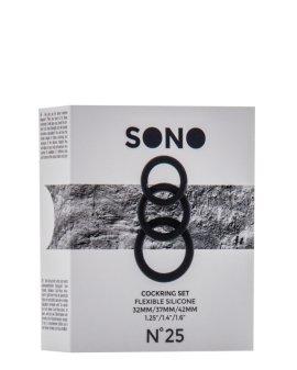 """Juodas penio žiedų rinkinys """"No.25"""" - Sono"""