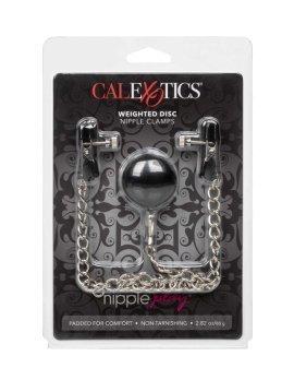 "Spenelių spaustukai ""Weighted Disc Nipple Clamps"" - CalExotics"