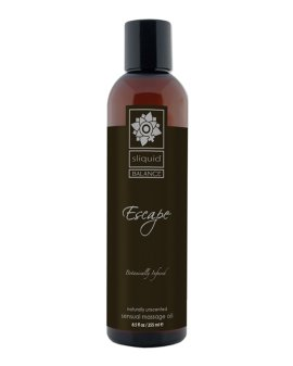 "Masažo aliejus ""Escape Naturally Unscented"", 255 ml - Sliquid"