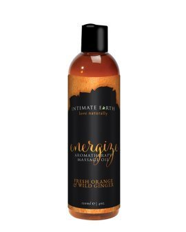 "Aromaterapinis masažo aliejus ""Energize"", 120 ml - Intimate Earth"