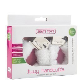 "Balti antrankiai ""Furry Handcuffs"" - Shots Toys"