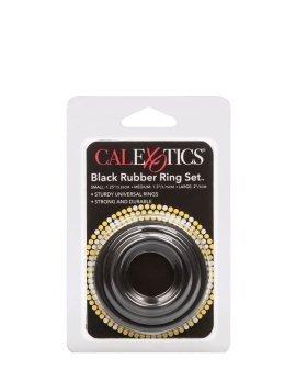 """Penio žiedų rinkinys """"Black Rubber Ring Set"""" - CalExotics"""
