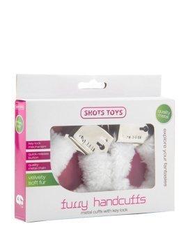 "Balti antrankiai ""Furry Handcuffs"" - Shots Toys"