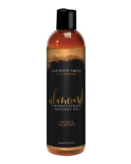 "Aromaterapinis masažo aliejus ""Honey Almond"", 240 ml - Intimate Earth"