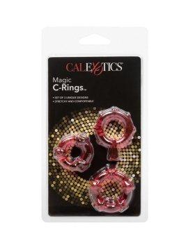 """Rožinis penio žiedų rinkinys """"Magic C-Rings"""" - CalExotics"""
