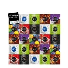 "Prezervatyvų rinkinys ""Variety Pack 1"", 42 vnt. - EXS Condoms"