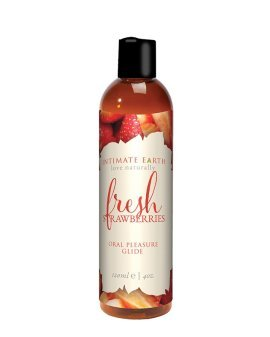 "Gelis oraliniam seksui ""Fresh Strawberries"", 120 ml - Intimate Earth"