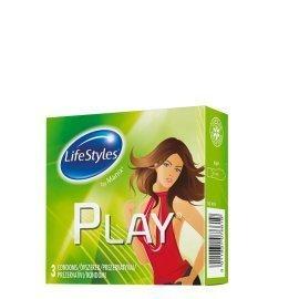"""Prezervatyvai """"Play"""", 3 vnt. - LifeStyles"""