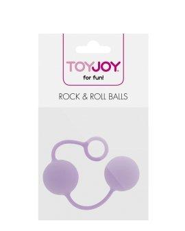 """Levandų spalvos vaginaliniai kamuoliukai """"Rock & Roll Balls"""" - ToyJoy"""