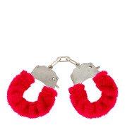 """Metaliniai raudoni antrankiai """"Furry Fun Cuffs"""""""