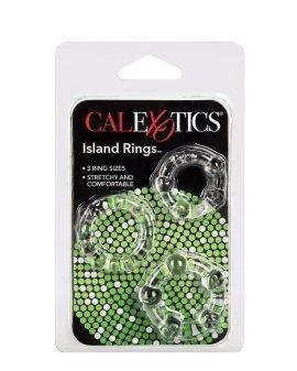 """Skaidrus penio žiedų rinkinys """"Island Rings"""" - CalExotics"""