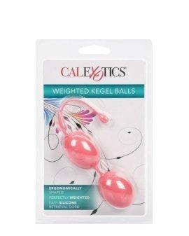 """Rožiniai vaginaliniai kamuoliukai """"Weighted Kegel Balls"""" - CalExotics"""