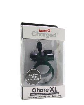 """Juodas vibruojantis penio ir sėklidžių žiedas """"Ohare XL"""" - Screaming O"""