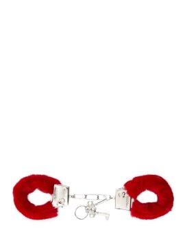 "Raudoni antrankiai ""Furry Handcuffs"" - Shots Toys"