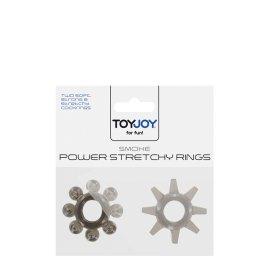 """Pilkų žiedų rinkinys """"Smoke Power Stretchy Rings"""" - ToyJoy"""