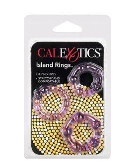 """Purpurinis penio žiedų rinkinys """"Island Rings"""" - CalExotics"""