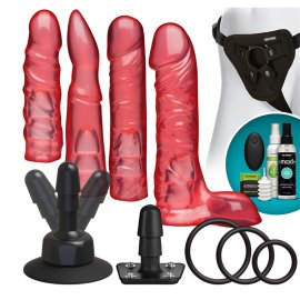 "Strap-on rinkinys poroms ""Vibrating Crystal Jellies Set"" - Doc Johnson"