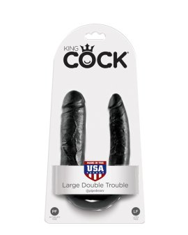 "Juodas dvigubas dildo ""King COCK Double Trouble"" - King COCK"