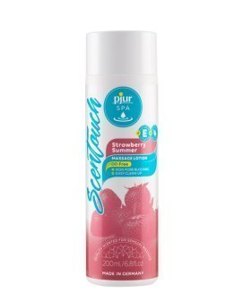 "Masažo losjonas ""ScenTouch Strawberry Summer "", 200 ml - Pjur"