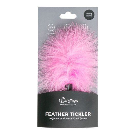 "Rožinis plunksnų botagas ""Feather Tickler"" - EasyToys"