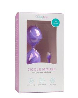 """Purpuriniai vaginaliniai kamuoliukai """"Jiggle Mouse Straight"""" - EasyToys"""