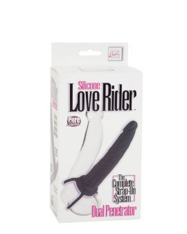"Juodas strap-on dildo ""Love Rider"" - CalExotics"
