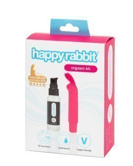 """Vibratoriaus ir stimuliuojančio gelio klitoriui rinkinys """"Orgasm Kit"""" - Happy Rabbit"""