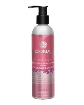 "Masažo losjonas su feromonais ""Blushing Berry"", 235 ml - Dona"