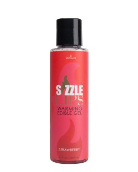 "Šildantis gelis ""Sizzle Lips Strawberry"", 125 ml - Sensuva"