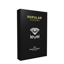 "Prezervatyvai ""Popular Condoms"", 24 vnt. - Level"