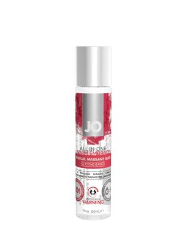 "Silikono pagrindo masažinis lubrikantas ""ALL in One Warming"", 30 ml - System JO"