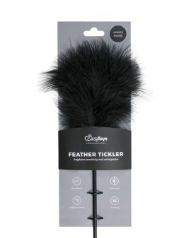 "Juodas plunksnos botagas ""Feather Tickler"" - EasyToys"