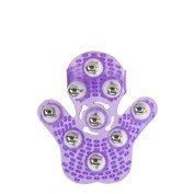 """Violetinis kūno masažuoklis - pirštinė """"Roller Balls Massager"""""""