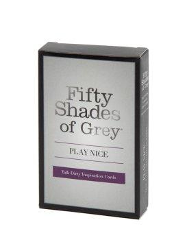 """Erotinis kortų žaidimas """"Play Nice"""" - Penkiasdešimt pilkų atspalvių kolekcija"""