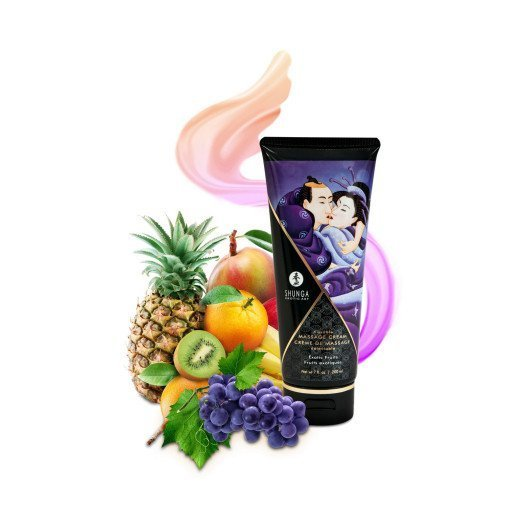 "Masažo kremas ""Exotic Fruits"", 200 ml - Shunga"