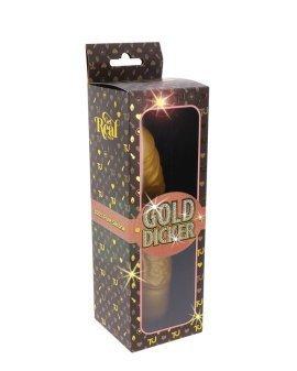 """Vibruojantis dildo """"Gold Dicker Original"""" - Get Real"""