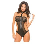 "Bodis ""Wetlook & Mesh Teddy"""