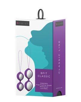 """Violetinių vaginalinių kamuoliukų rinkinys """"Bfit Classic"""" - B Swish"""
