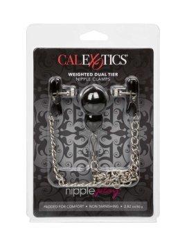 "Spenelių spaustukai ""Weighted Nipple Clamps"" - CalExotics"