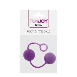 """Purpuriniai vaginaliniai kamuoliukai """"Rock & Roll Balls"""" - ToyJoy"""