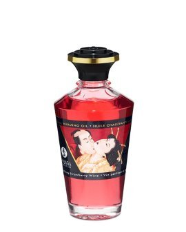"Afrodiziakinis šildantis aliejus ""Strawberry Wine"", 100 ml - Shunga"