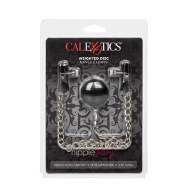 "Spenelių spaustukai ""Weighted Disc Nipple Clamps"" - CalExotics"