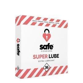 """Papildomai lubrikuoti prezervatyvai """"Super Lube"""", 36 vnt. - Safe"""