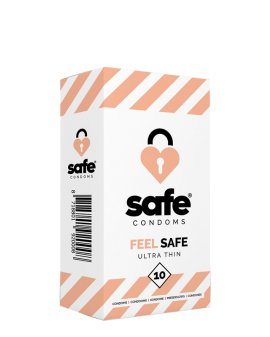 "Ploni prezervatyvai ""Feel Safe Ultra Thin"", 10 vnt. - Safe"